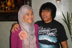 With my brother