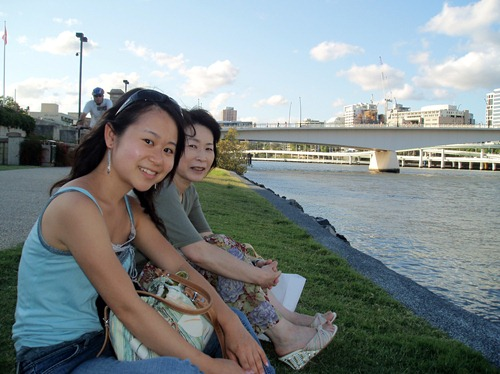 Mayu & her mom in Southbank
