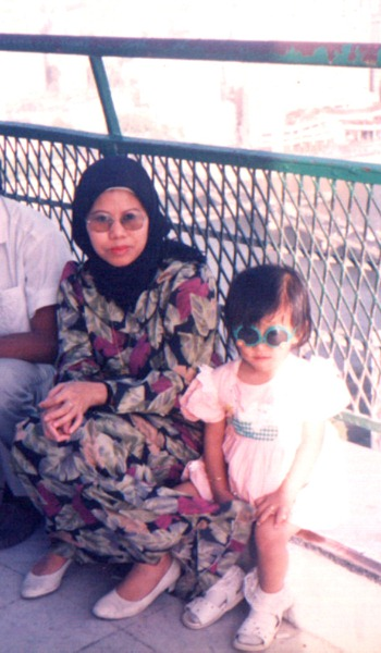 Mom & I at the top of Cairo Tower in Cairo, Egypt