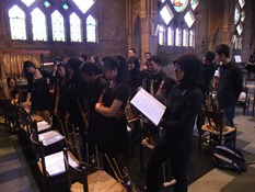 Last rehearsal at the chapel nearby