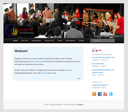 The website of Angklung Eindhoven