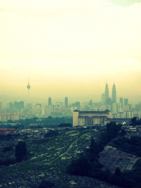 The view of KL Tower & Twin Towers from my sister's apartment