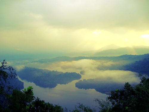 The dam view taken from Bukit Tabur